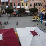 View from room one of my beautiful girlfriend in the main square