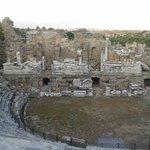 Side antik tiyatro yukarıdan sahne