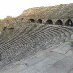 Side antik tiyatro tribünler