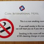 They take their no-smoking policy seriously!