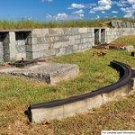 Mounts for former guns at Battery Gatewood