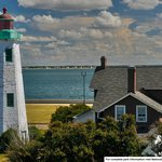 Point Comfort Lighthouse as seen from Fort Monroe