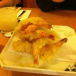 Deliciously light and crispy tempura king prawns