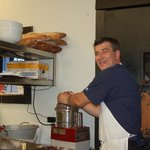 Chef-Owner Frederic Feufeu making tapenade