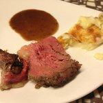 Roast Beef and Mash Potato with Truffle Sauce