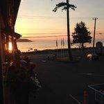 Morning sunrise off the balcony...NICE