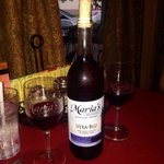 Vera-Blue wine...we don't like sweet wines. This is exceptional wine.