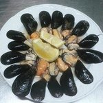 Specialità di pesce: cozze nere