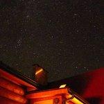 ウッドデッキから見た星空