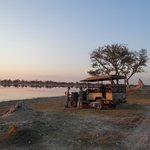 First night sundowners with our trusted guide