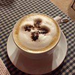 Superb morning cappuccino