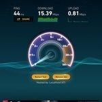 12/15 mbps internet.  not bad for africa