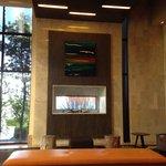 Hotel lobby. Very modern!