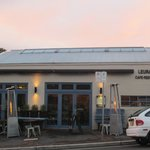 Leura Garage at dusk