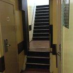 Corridor outside the hotel room