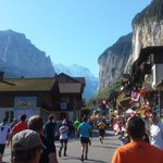 Jungfrau Marathon passing the hotel in September