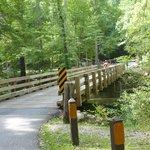 One lane bridge on Lyons Springs Rd at Metcalf Bottoms Picnic Area