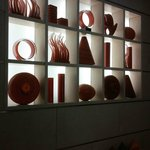 Glass Art Work in Lobby of Hotel