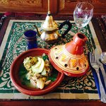 Chicken Sferia with Algerian dumplings