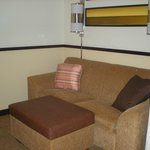 Sofa in handicap accessible room 104