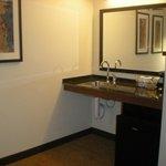 Sink/microfridge/microwave area; handicap accessible room 104