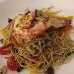 Tiger Prawn spaghetti.  Very tasty!