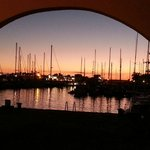 Sunsets at the marina are worth seeing