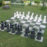 The Chess Board in the outdoor area of Span Resorts
