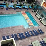 Pool view, cute central courtyard location.. Hotel rooms surrounding pool