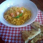 House made pasta with Louisiana Shrimp