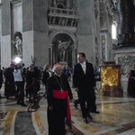 Cardinal and President of Portugal at Vatican