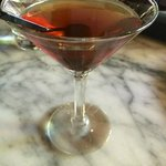 Manhattan at Spinasse's bar.