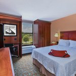 A One Queen Bed room features a cozy place for a single traveler or a couple to relax.