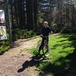 Riding bikes on the abundant scenic riding trails