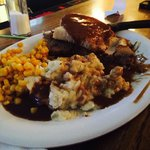 Hot Beef Plate.....my husband was in brown gravy Heaven. Great place to eat lunch or dinner.