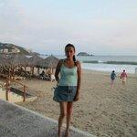 Antes de bajar a la playa