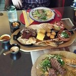 Mixed plate plus an additional course of beef ��