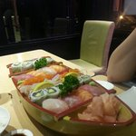 Shushi boat for couples. Relly good!