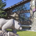 Bear statue outside the museum