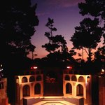 Sunset over the Forest Theater and the PacRep production of Julius Caesar, 1994