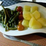 Contorno di patate lesse e fagiolini