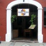 Entrance to Madre Tierra - 1/2 block north of Casa Escobar