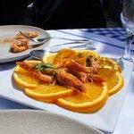 Camarão com laranja