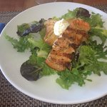 The grilled marinated wild salmon