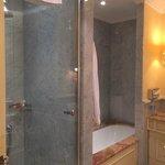Nice bathroom although drain did clog