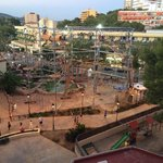 Climbing frame view from room