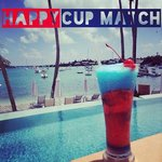 Happy Cup Match, Bermuda, from Shutters Bar & Grill.