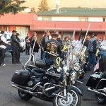 Setting out for the Veterans Ride 2014