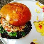 excellent portabello mushroom on brioche bun