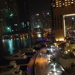 Marina night view from nearby bar called Cargo
